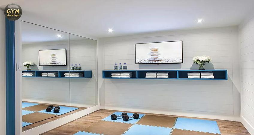Phòng tập thể hình, yoga kết hợp trong nhà