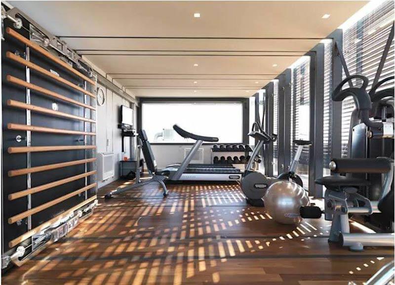 thiết kế phòng gym đẹp rẻ