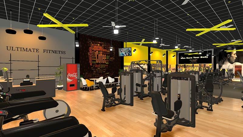 thiết kế phòng tập gym cho nam chất lượng