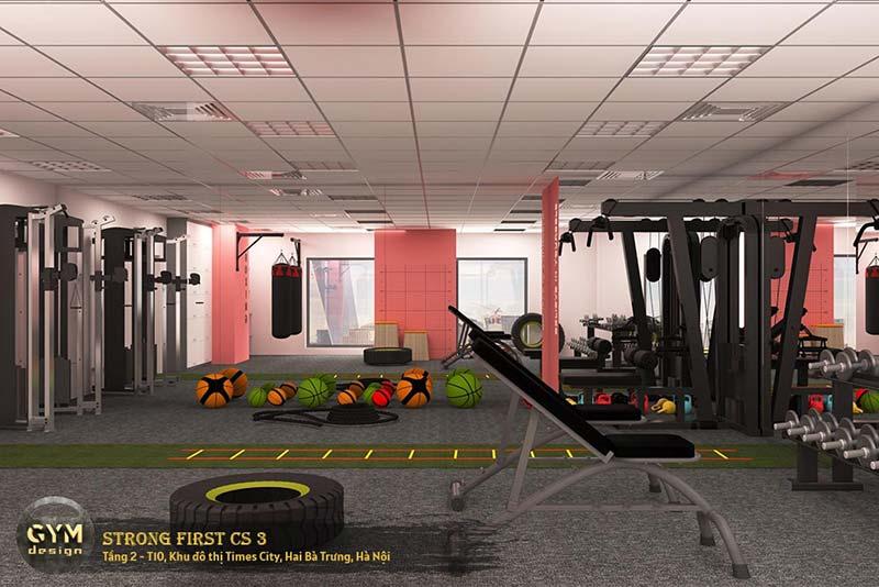 thiết kế phòng gym nữ đẹp
