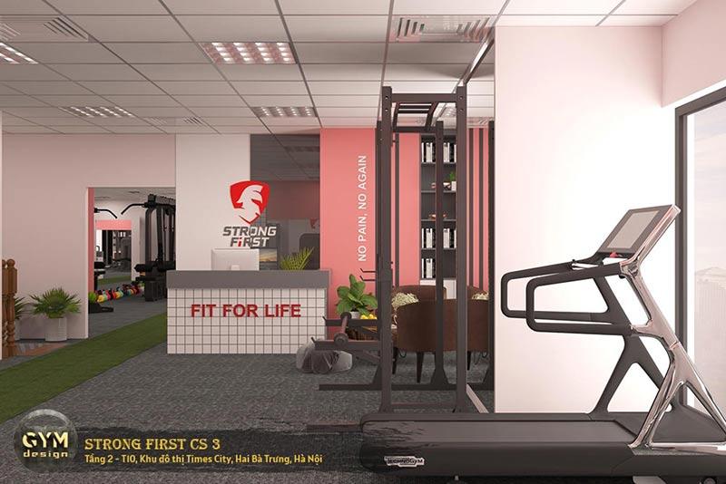 thiết kế phòng tập gym đẹp cho nữ tập