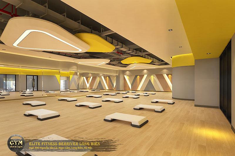 thiết kế phòng tập yoga đẹp