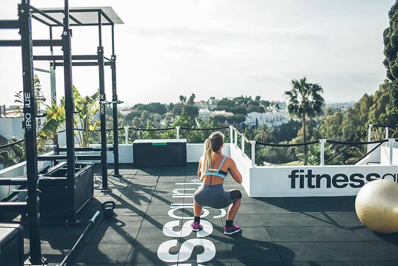 thiết kế phòng tập thể dục trên sân thượng