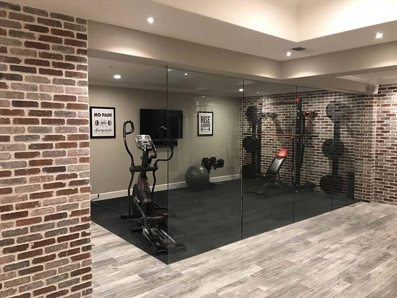 thiết kế phòng tập gym dưới tầng hầm