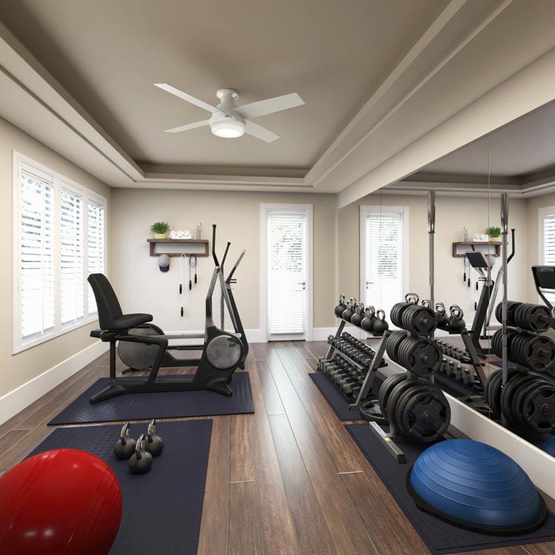 Ý tưởng thiết kế phòng gym gia đình đa chức năng