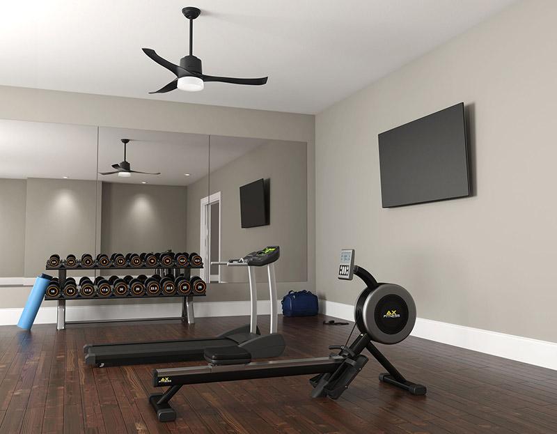 Mẫu phòng gym tại gia đơn giản, tiết kiệm chi phí