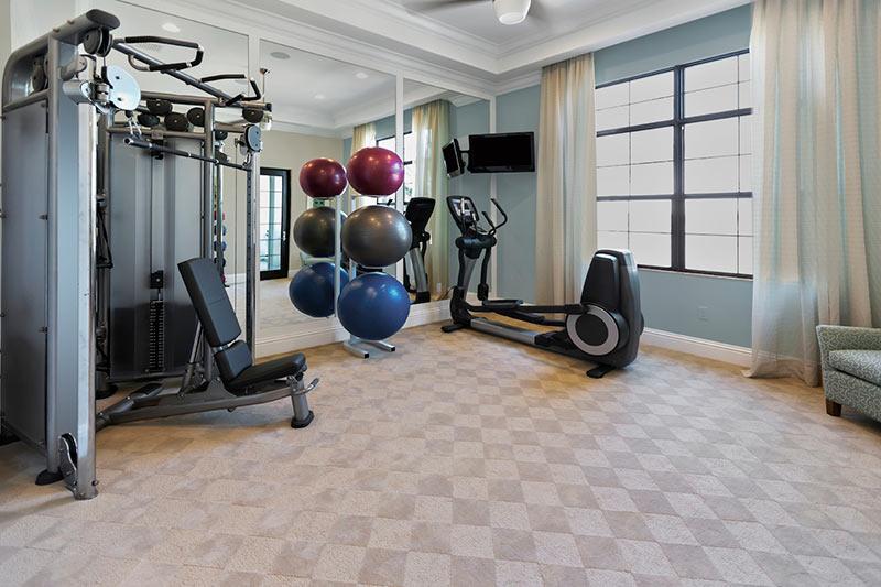 mẫu phòng gym đẹp, riêng tư