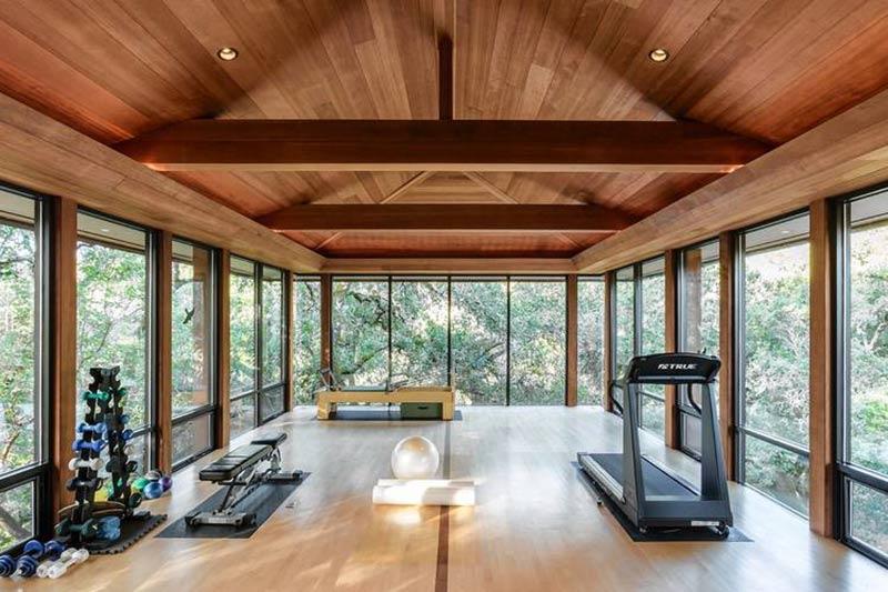 mẫu phòng gym, yoga đẹp cho biệt thự vườn