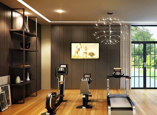 mẫu thiết kế phòng tập gym gia đình
