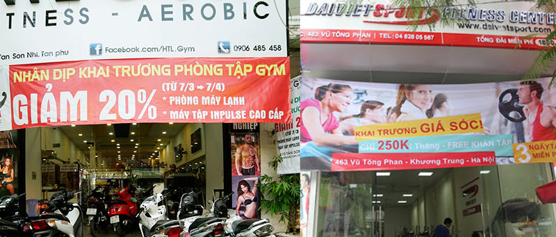 Truyền thông quảng cáo khai trương phòng gym